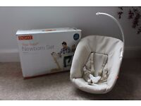 Stokke Tripp Trapp Newborn Set with toy hanging bar and original box