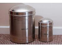 Bread and Tea tins