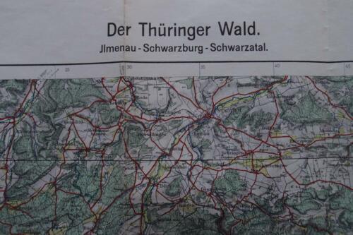 Thüringer Wald Karte.Topographische Landkarte Der Thüringer Wald Von 1940