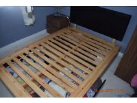 Double bed frame with four drawers 220x140