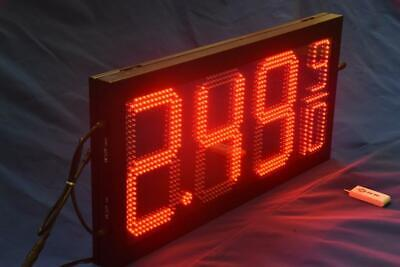 Led Gas Price Sign Red 16 X 33 Remote Control Complete Package Fuel Numbers