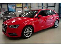 Audi A3 TDI SPORT [1 OWNER / NAV / DAB RADIO] (brilliant red) 2014