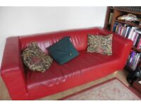 Red Leather Ikea Settee