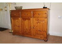 Solid Pine Sideboard - recently professionally refurbished. Excellent condition