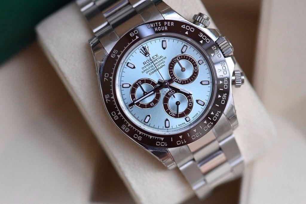 Rolex Daytona Platinum Ice Blue Dial SW7750