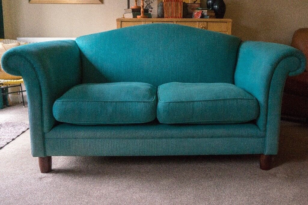 Laura Ashley Gloucester 2 Seater Sofa In Edwin Teal Fabric