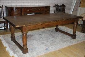 antique 8ft oak refectory table