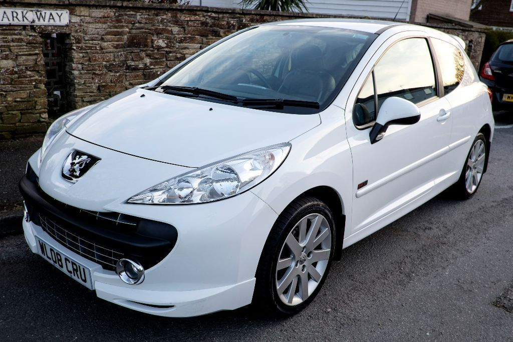 2008 peugeot 207 1 6 sport xs petrol 150 bhp 3 door white low mileage excellent condition. Black Bedroom Furniture Sets. Home Design Ideas
