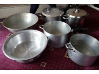 job lot heavy duty large stainless steel pots & pans inc pressure cooker