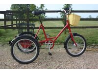 NEW CONDITION, GREAT Quality Adults Pashley Picador Tricycle British Cargo Trike 3 Wheels bike cycle