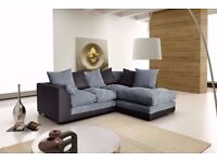 🚚🚛WE DELIVER ALL OVER UK 🚚🚛BRAND NEW JUMBO CORD BYRON CORNER / 3+2 SOFA SET -BEST SELLING BRAND