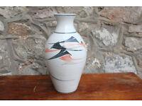Vintage Handmade / Hand Decorated Glazed Vase Stoneware Jackson Pottery Irish Art Pottery 24cm