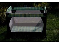 Craco Travel Cot with carry case.