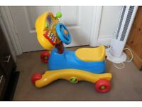 VTEC Grow & Go Ride On - Bike Rocker Rocking Music Play Toy Wheel - Barely Used - Perfect Condition