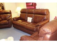 3 seater + 2 x recliner chairs.