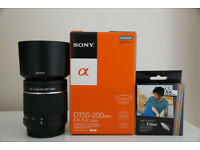 New Sony a-mount 55-200 zoom lens