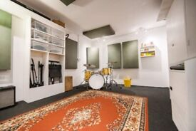 Monthly hire rehearsal studios for bands and producers 24 hour access N4