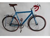 single speed fixed gear 700c Road bike XL 58 cm with extras