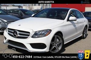 2015 MERCEDES C300 4MATIC/SPORT AMG/NAVI/CAMERA/TOIT PANORAMIC