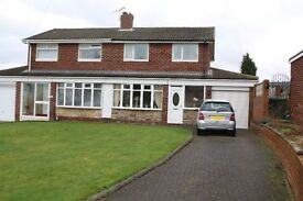 We bring to the rental market this three bedroom semi-detached house in Blaydon