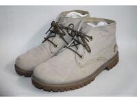 TIMBERLAND MEN'S MID BOOTS SHOES GREY CANVAS TACTIC STYLE OUTDOOR 9 UK WIDE