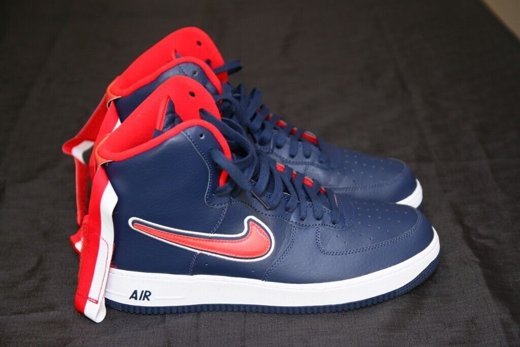 3218eaff27656 Nike Air Force One 1 High Sport NBA Midnight Navy University Red Washi | in  Enfield, London | Gumtree