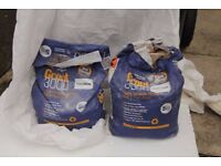 2 part 5kg bags of used grout 3000. One white; one grey