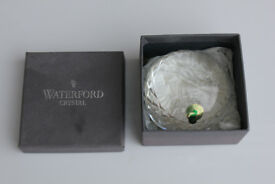 Unusual Boxed Waterford Crystal Paperweight Royal Military Tattoo 2000 Paper Weight Irish Vintage