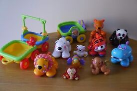 Fisher Price Animals With Train Carriage