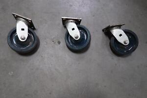 Heavy Duty Green Caster Wheels
