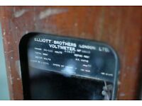 Antique Elliot Brothers Oak Recording Voltmeter - Museum Quality
