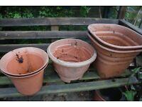 Garden planters x5