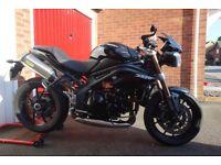 Triumph Speed Triple 1050, Black, Fox eye, Arrow titanium exhausts