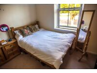 A large double bedroom in a characterful house