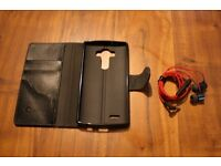 LG G4 Unused Original Headphones and Used (Great Condition) Case