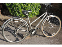 "Raleigh Silver Lady's 17"" & Gent's 21"" Bikes in good condition"
