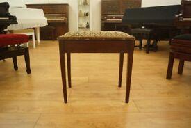 Large vintage piano stool