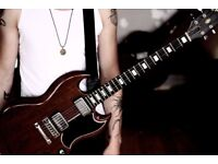 Guitar tuition available in London. Pro-recording offered, plus Skype lessons or travel to you