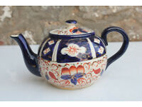 Antique Vintage Imari Teapot Wadeheath Pottery Handpainted Vintage Gaudy Wade Ceramic Tea Pot