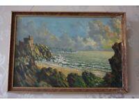 Signed Vintage English Impressionist Painting G. POTTS