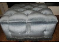 Nice Blue Velour Pouffe with storage space - £40