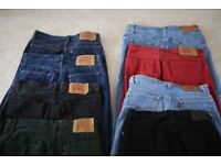 7 pairs of Levi 501 Jeans & 1 pair Calvin Klein Jeans - 34W 32L - most hardly worn