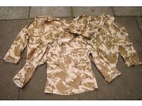 Vintage, original 1990 Gulf War1 Desert Issue Combat Shirts