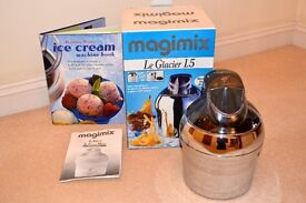 Magimix Ice Cream Maker, Le Glacier 1.5 Chrome, Excellent Condition. With Box & Booklet, Great Gift