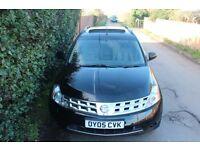 Nissan MURANO 4x4 3.5 auto cvt gearbox fully loaded leather,dvd sat nav x-trail x5 ml q7 navara