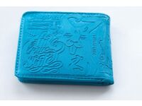 Embossed effect blue wallet Pull & Bear
