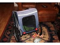 Doggy Hut dog bicycle trailer in excellent condition.