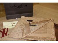 Luxury Louis Vuitton gold Scarf /Shawl - brand new