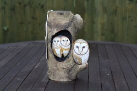 Hand Painted Pebbles - Barn Owls