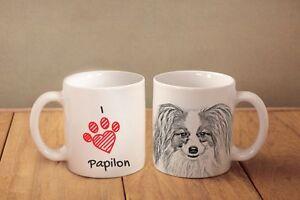 Papillon - ein Becher &quot;I love&quot; Subli Dog, AT - <span itemprop='availableAtOrFrom'>Zary, Polska</span> - Zwroty są przyjmowane - Zary, Polska